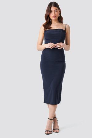 Trendyol Milla Thin Strap Midi Dress - Blue