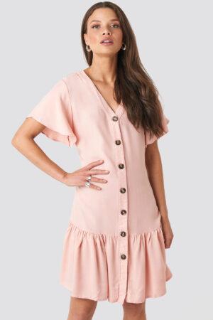 Trendyol Sleeves Flywheel Shirt Dress - Pink
