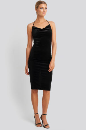 Trendyol Strap Neck Midi Dress - Black