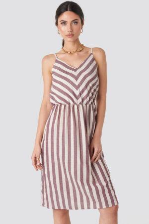 Trendyol Striped Halter Midi Dress - Multicolor