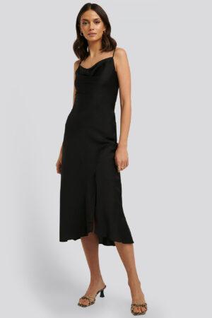 Trendyol Thin Strap Midi Dress - Black