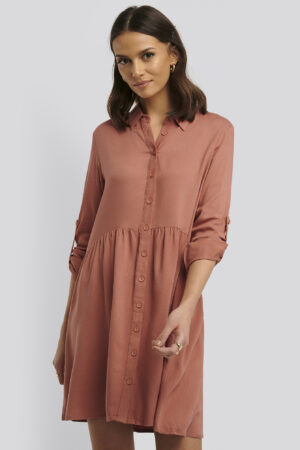 Trendyol Yol Shirt Dress - Copper