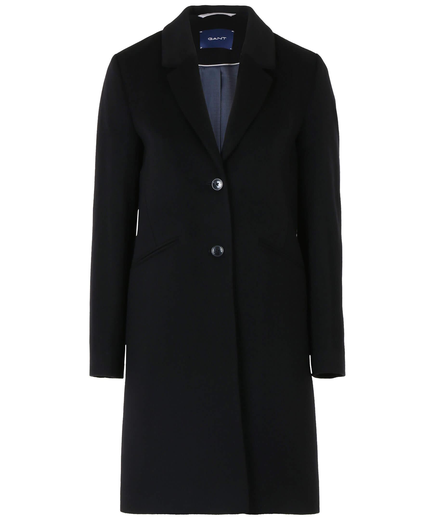 En lång svart kappa från Gant.