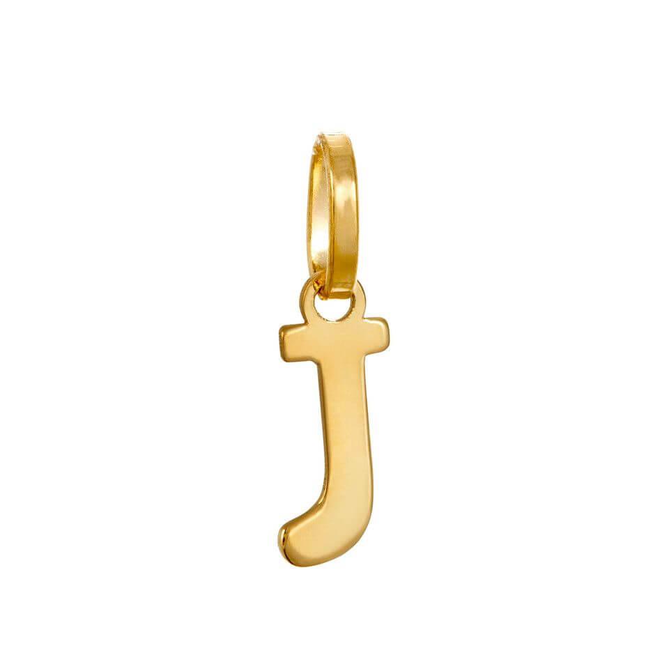 Bokstav i 18K guld för halsband.