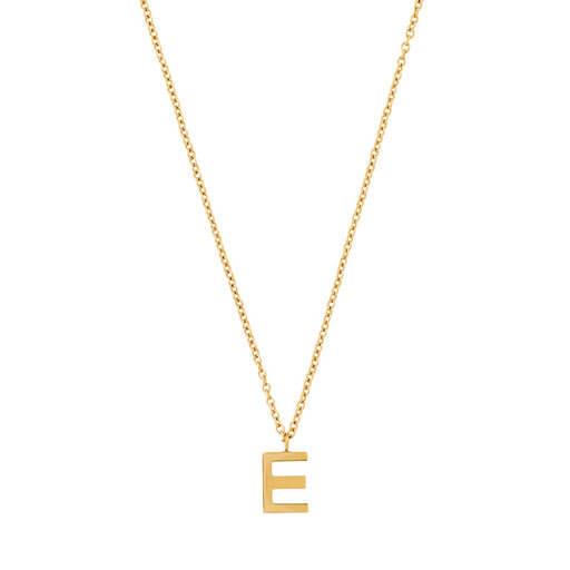 Enkel bokstav på kedja i 14 K guld