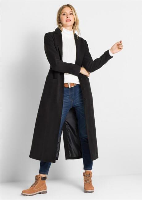 Lång svart kappa