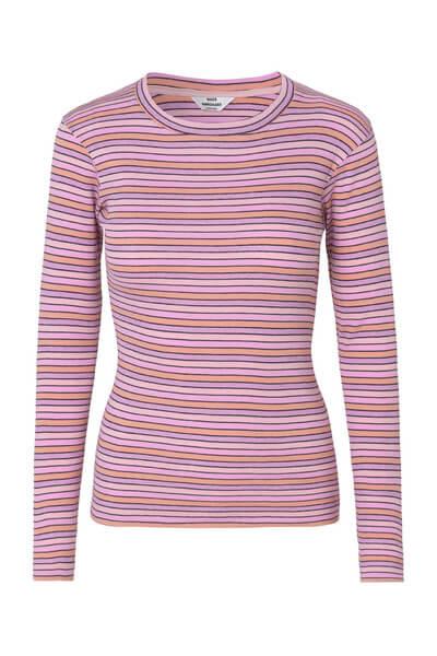Randig rosa tröja i bomull