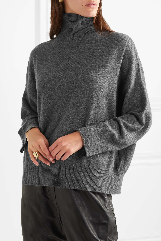 Grå kashmir tröja med polokrage. LouLou Studios.