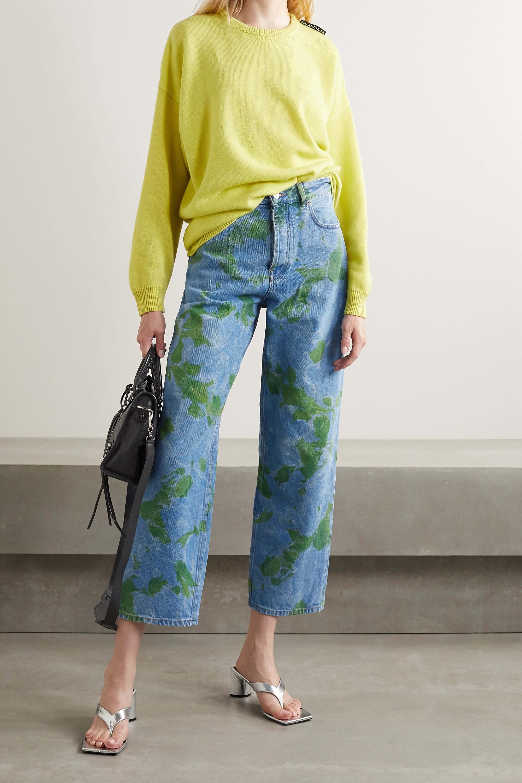 Korta jeans blommönster