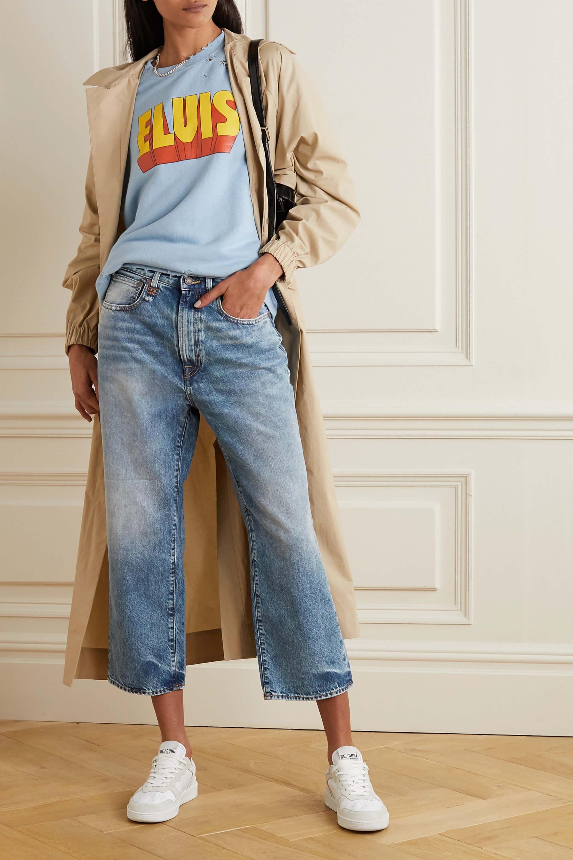 Flared jeans i kort modell