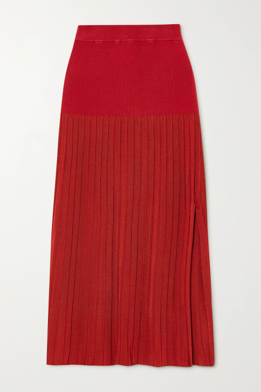 röd kjol vadlång
