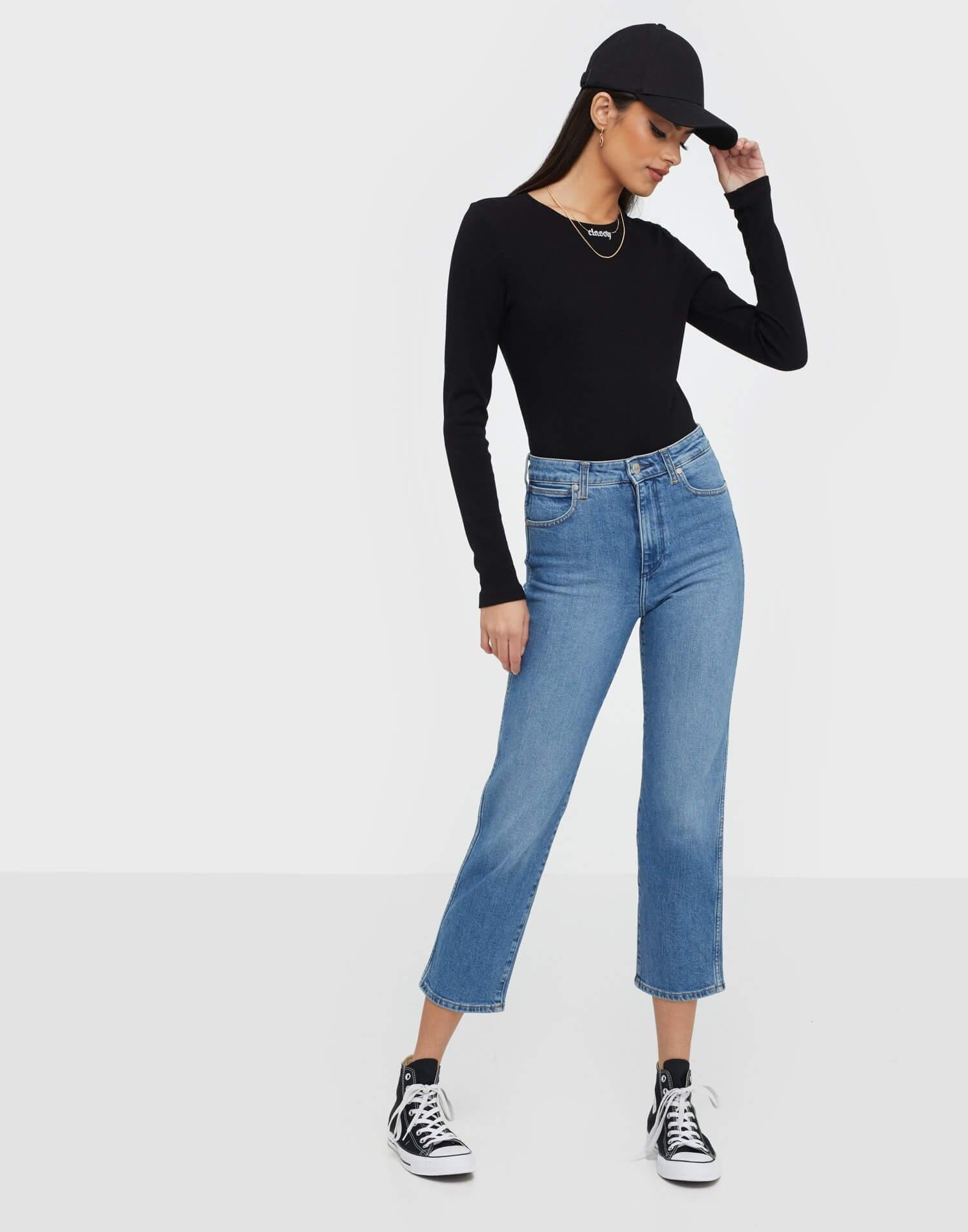 Klassiska korta jeans