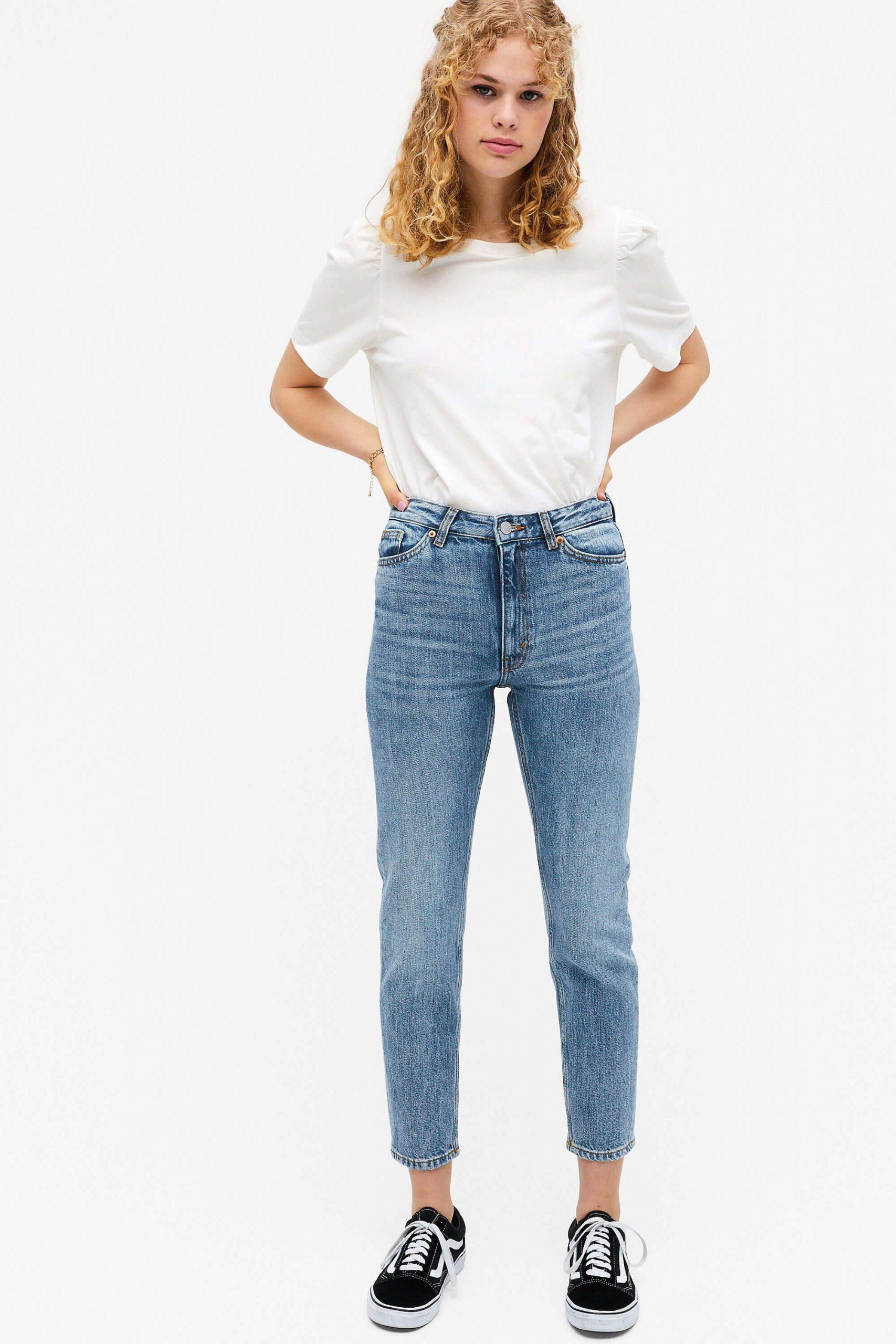 Högmidjade korta jeans