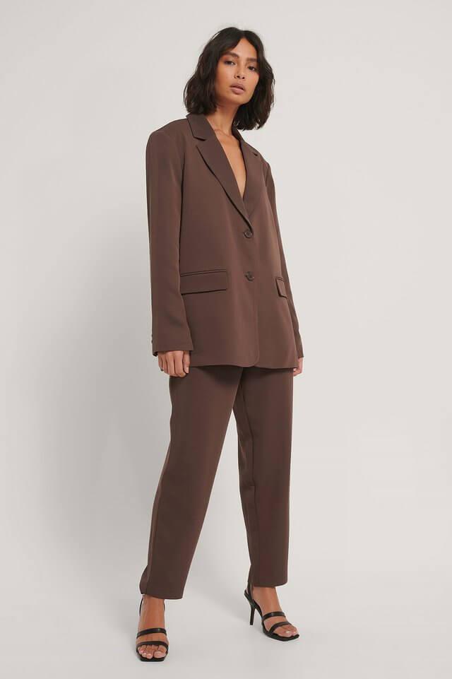 Brun kostym oversized