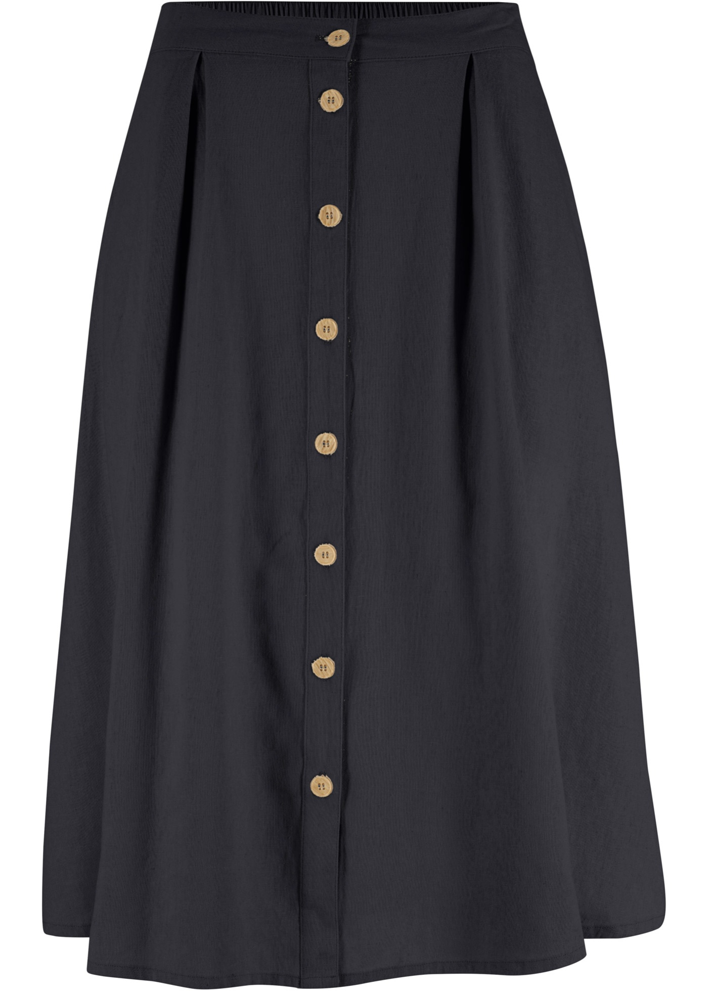 svart vadlång kjol fickor