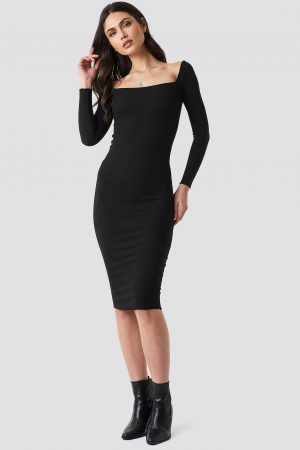 Beyyoglu Square Dress - Black