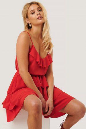 Nicole Mazzocato x NA-KD Miniklänning - Red