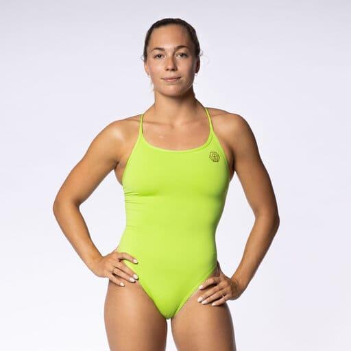 Limegrön baddräkt för sportiga damer