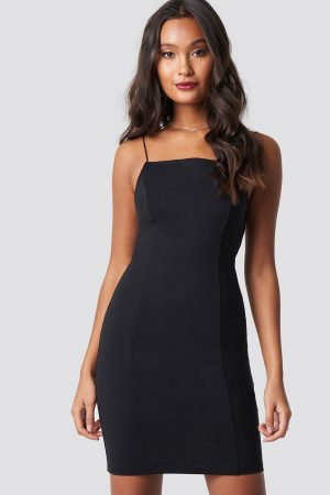 Dilara x NA-KD Thin Strap Bodycon Dress - Black
