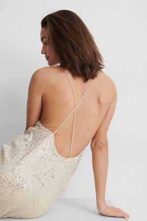 Gine Margrethe x NA-KD Paljettklänning - Silver