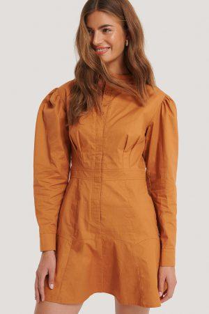 Gine Margrethe x NA-KD Mandarinklänning - Copper