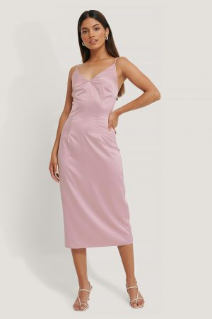 Jldrae x NA-KD Slipklänning - Pink