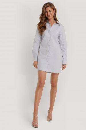 Kim Feenstra x NA-KD Skjortklänning - Blue
