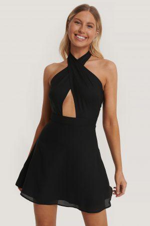 Kim Feenstra x NA-KD Halterneckklänning - Black