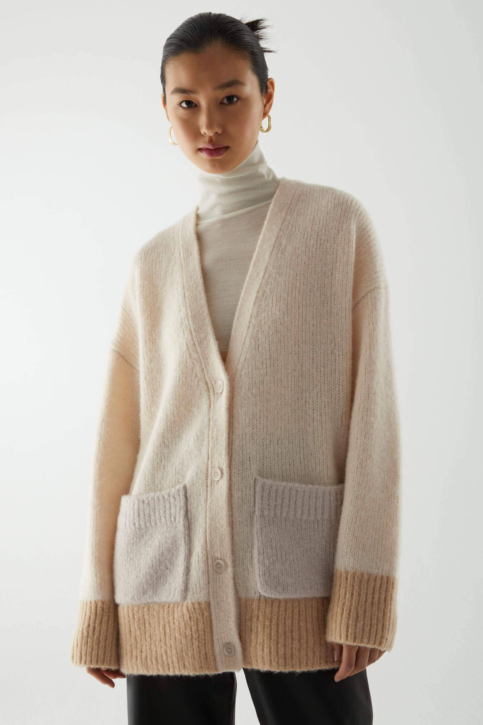 Kofta med fickor ull 2020