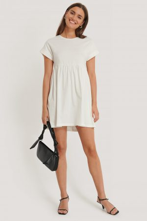 MANGO Gisele Dress - Offwhite