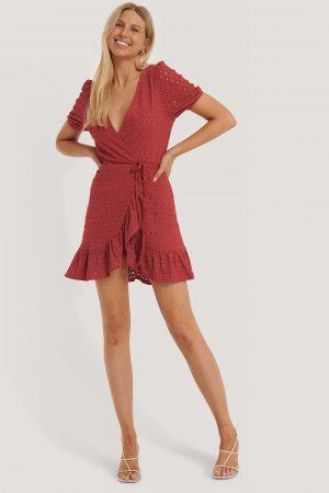 MANGO Omlottklänning - Red