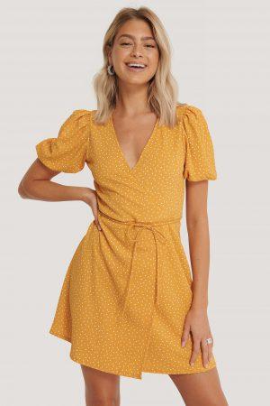 MANGO Omlottklänning - Yellow