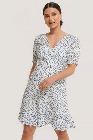 NA-KD Miniklänning Med Knappar - White