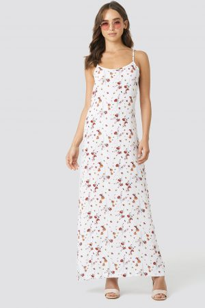 NA-KD Cami Maxi Dress - White