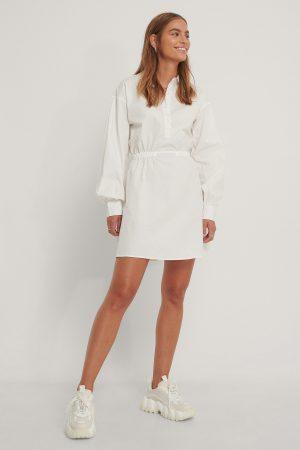 Gine Margrethe x NA-KD Skjortklänning - Offwhite