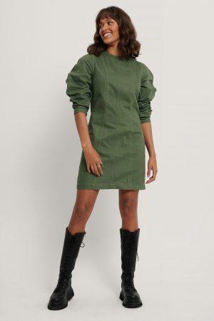 NA-KD Reborn Ekologisk Denimklänning - Green