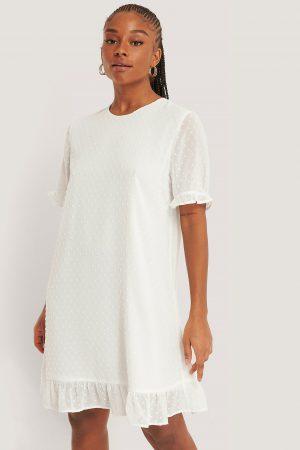 NA-KD Boho Vid Dobbyklänning - White