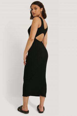 NA-KD Trend Open Back Sleeveless Dress - Black