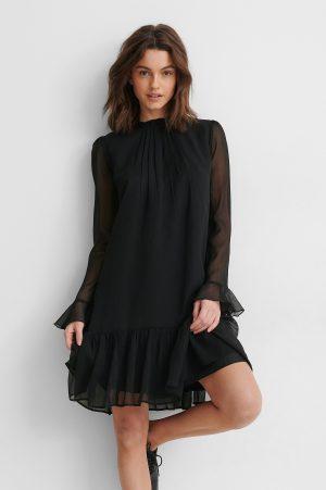 NA-KD Trend Chiffongklänning - Black