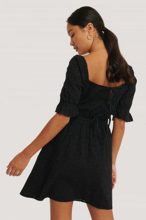 NA-KD Boho Miniklänning Med Broderade Detaljer - Black