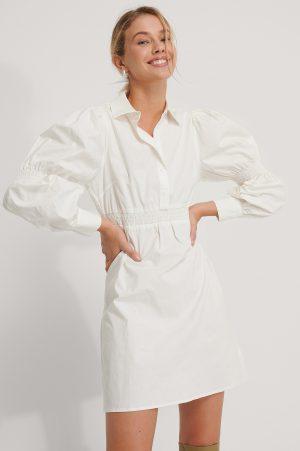 NA-KD Skjortklänning - White