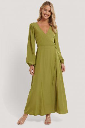 NA-KD Classic Omlottklänning - Green