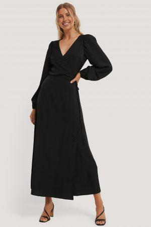NA-KD Classic Omlottklänning - Black
