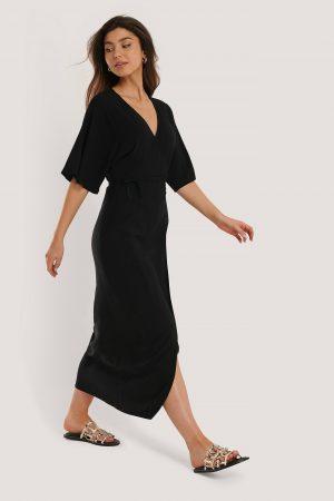 NA-KD Boho Omklottklänning - Black