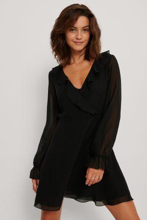 NA-KD Omlottklänning - Black