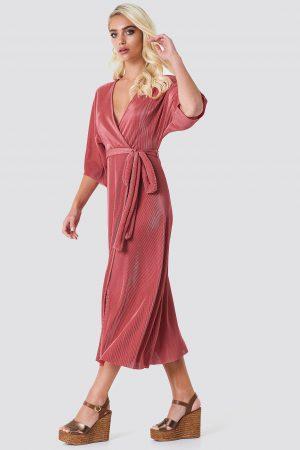 Rut&Circle Lola Plisse Kimono - Pink