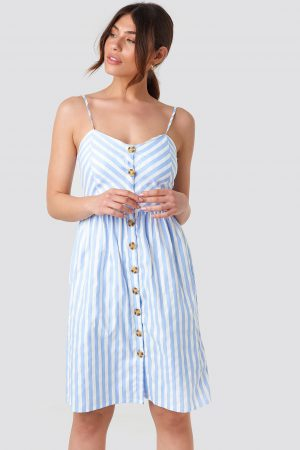 Rut&Circle Stripe Dress - Blue