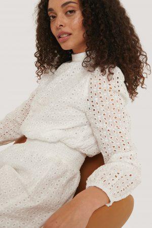 Sisters Point Långärmad Miniklänning - White