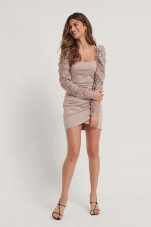 Stéphanie Durant x NA-KD Omlottklänning - Pink