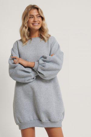 Trendyol Tröjklänning - Grey